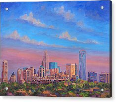 Charlotte Skies Acrylic Print by Jeff Pittman