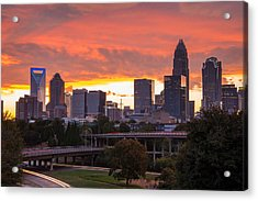 Acrylic Print featuring the photograph Charlotte Sky by Serge Skiba