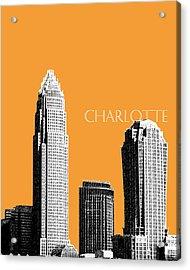 Charlotte Skyline 2 - Orange Acrylic Print