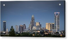 Charlotte Skyline - Clear Evening Acrylic Print by Brian Young