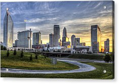Charlotte Sunrise Acrylic Print by Chris Austin