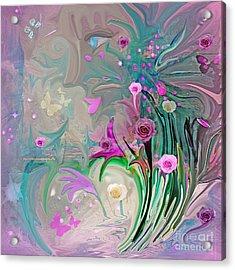 Charm Of The Garden Acrylic Print