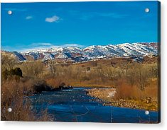 Charma River Acrylic Print by Lou  Novick