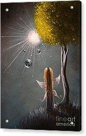 Little Fairy Art By Shawna Erback Acrylic Print by Shawna Erback