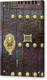 Charming Entry Door, Cartagena, Colombia Acrylic Print by Jerry Ginsberg