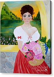 Charming Woman. Inspirations Collection. Acrylic Print