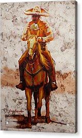 Charro Acrylic Print by J- J- Espinoza