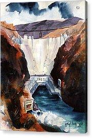 Char's Hoover Dam Acrylic Print