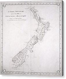 Chart Of New Zealand Acrylic Print by British Library