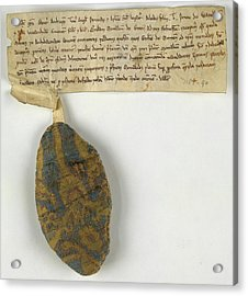 Charter Relating To Marton Acrylic Print by British Library