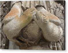 Acrylic Print featuring the photograph Chartres Cathedral Carving by Deborah Smolinske