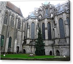 Acrylic Print featuring the photograph Chartres Cathedral by Deborah Smolinske