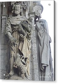 Acrylic Print featuring the photograph Chartres Cathedral Knight by Deborah Smolinske