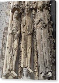 Acrylic Print featuring the photograph Chartres Cathedral Saints by Deborah Smolinske