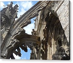 Acrylic Print featuring the photograph Chartres Flying Buttress by Deborah Smolinske