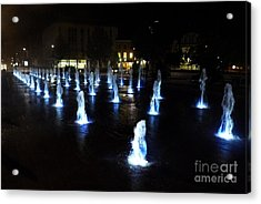 Acrylic Print featuring the photograph Chartres Street Fountains by Deborah Smolinske