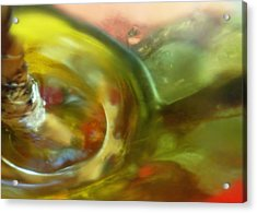Acrylic Print featuring the photograph Chartreuse Series Abstract Xiv by Ginny Schmidt