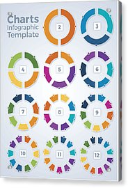 Charts Infographic Template Graphs Acrylic Print by Filo