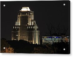 Chase Park Plaza From Art Hill Acrylic Print by Scott Rackers