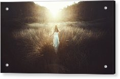 Chase The Sun Acrylic Print by Terry F