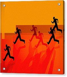 Chasing Shadows Acrylic Print by Bob Orsillo