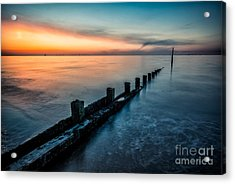 Chasing The Sunset Acrylic Print by Adrian Evans
