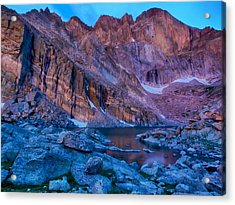 Chasm Lake Gold Acrylic Print by Rob Wilson