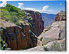Chasm Near Beginning Of Warner Point Trail In Black Canyon Of The Gunnison National Park-colorado Acrylic Print