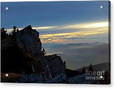 Acrylic Print featuring the photograph Chasseral Overlook by Charles Lupica