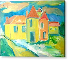 Chateau Acrylic Print by Brenda Ruark