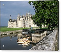 Chateau Chambord Boating Acrylic Print