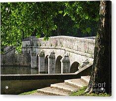 Chateau Chambord Bridge Acrylic Print