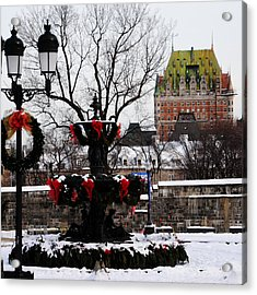 Chateau Frontenac - Holiday Acrylic Print by Jacqueline M Lewis