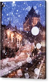 Acrylic Print featuring the photograph Chateau Frontenac by Arkady Kunysz