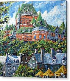 Chateau Frontenac By Prankearts Acrylic Print by Richard T Pranke