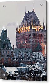 Chateau Frontenac In Winter Acrylic Print by Doug Mckinlay