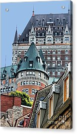 Chateau Frontenac Quebec Canada Acrylic Print by Polly Peacock