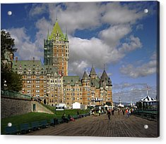 Chateau Frontenac Quebec City Acrylic Print by Nicky Jameson