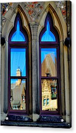Chateau Laurier - Parlaiment Window - Reflection # 1 Acrylic Print