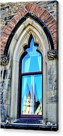 Chateau Laurier - Parlaiment Window - Reflection # 3 Acrylic Print