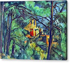 Chateau Noir By Cezanne Acrylic Print by John Peter