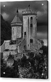 Chateau Tower Monochrome Acrylic Print by John Topman