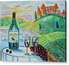 Acrylic Print featuring the painting Chateau Wine by Diane Pape