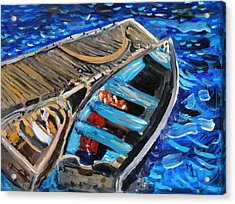 Acrylic Print featuring the painting Chatham Blue by Michael Helfen