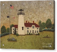 Chatham Light Acrylic Print by Becky Humbarger
