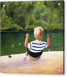 Chattahoochee Swinging Acrylic Print by Robin Chaffin