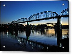 Tennessee River Bridges Chattanooga Acrylic Print