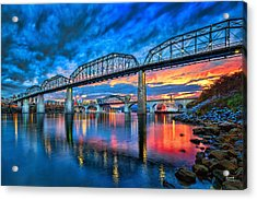 Chattanooga Sunset 3 Acrylic Print by Steven Llorca
