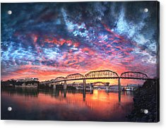 Chattanooga Sunset 4 Acrylic Print by Steven Llorca