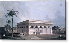 Chaunsath Khamba, Nizamuddin, New Delhi Acrylic Print by Thomas & William Daniell